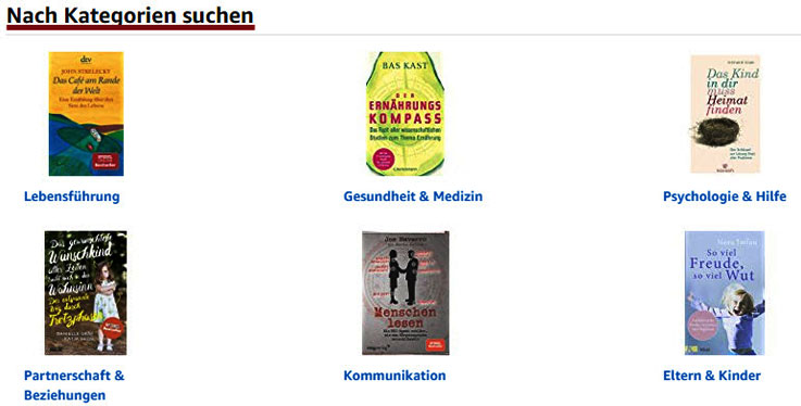 Busines-Ideen Quelle Amazon-Kategorien