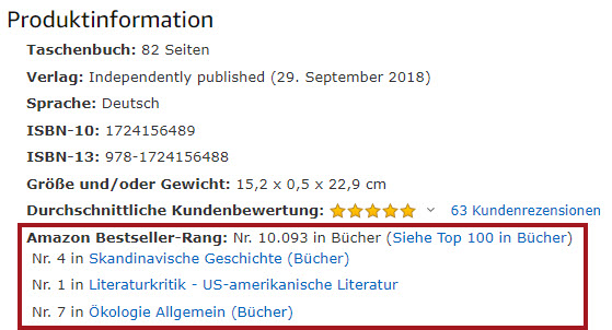 Amazon-Bestsellerrank-Bücher