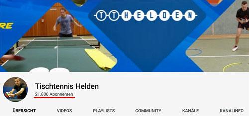 Tischtennis Helden YouTube-Kanal