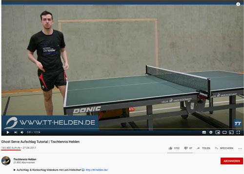 Tischtennis Helden YouTube-Video
