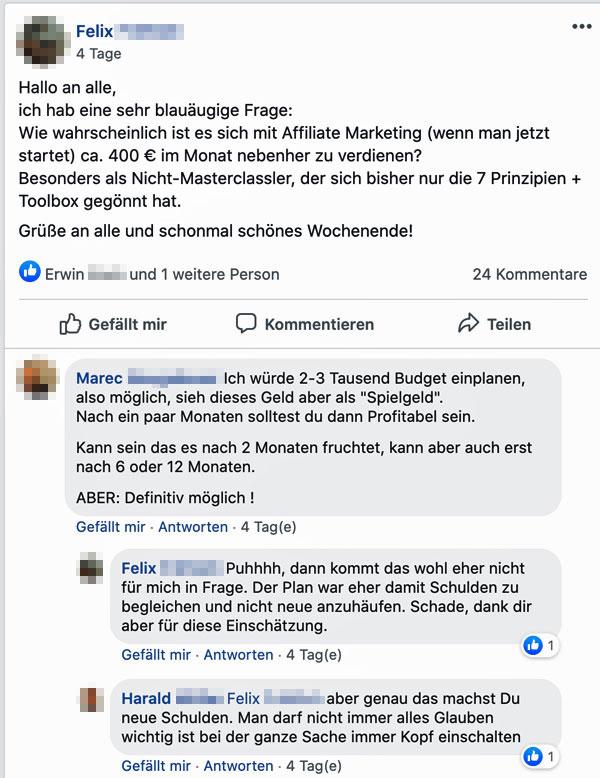 Affiliate-Marketing mit Facebook-Ads