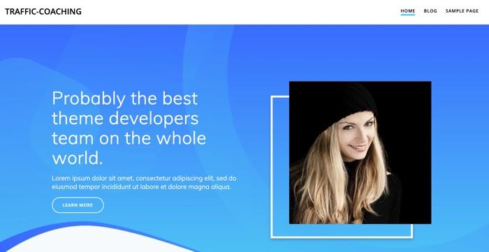 Fertig designte WordPress-Startseite