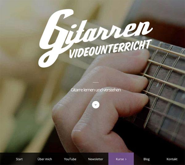 Gitarren-Videokurs