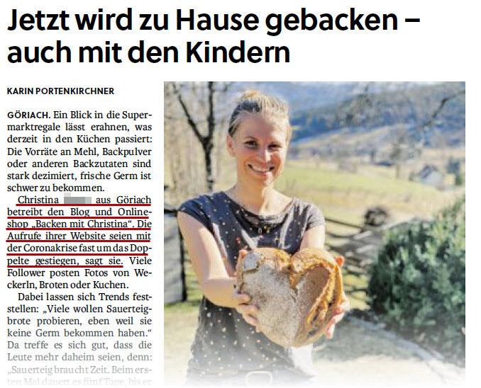 SN-Zeitungsartikel Christina