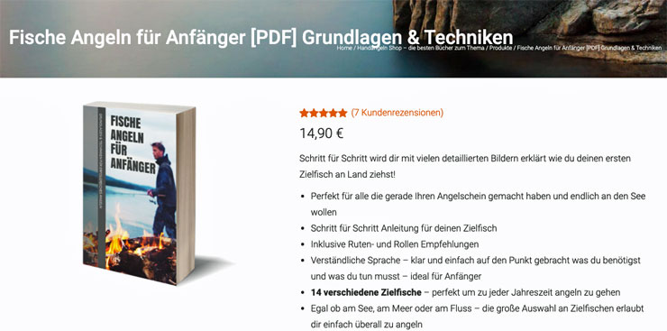 Verkaufsseite Angeln E-Book