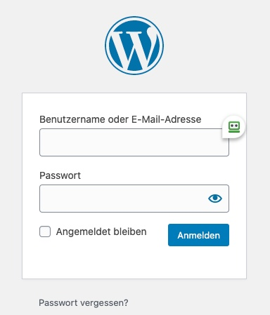 WordPress Anmeldeformular