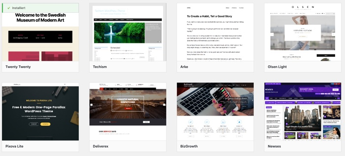 WordPress-Theme auswählen