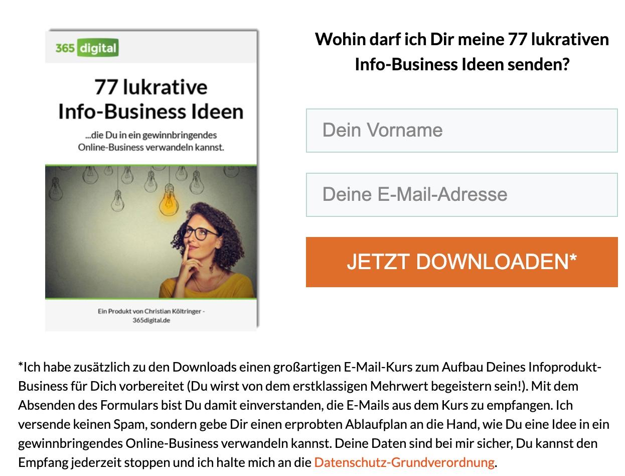 77-Infoprodukt-Ideen-Optin
