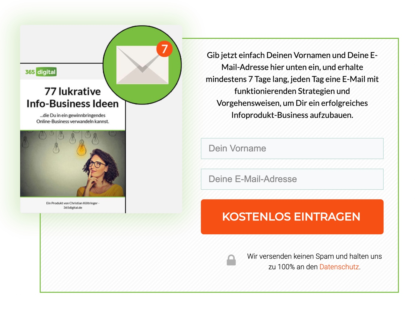 E-Mail-Anmeldeformular