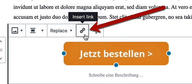 Link auf Grafik legen in WordPress