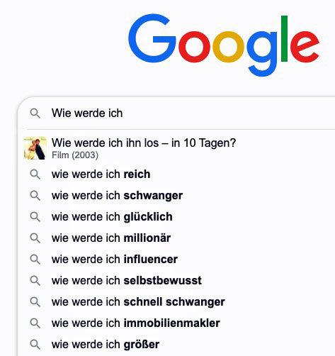 """Google-Suggest für """"Wie werde ich"""""""
