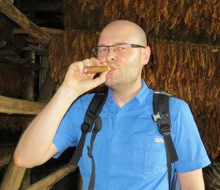 Christian mit Zigarre
