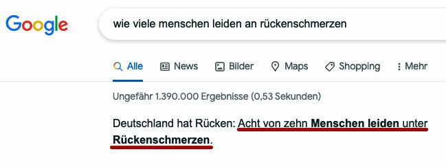 Wie viele Menschen leiden in Deutschland an Rückenschmerzen?